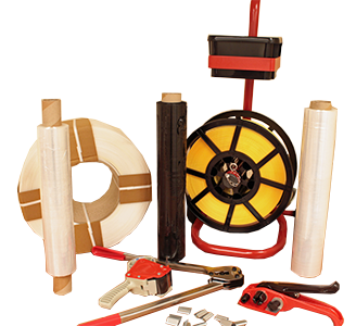 Pallet wrap strapping tools